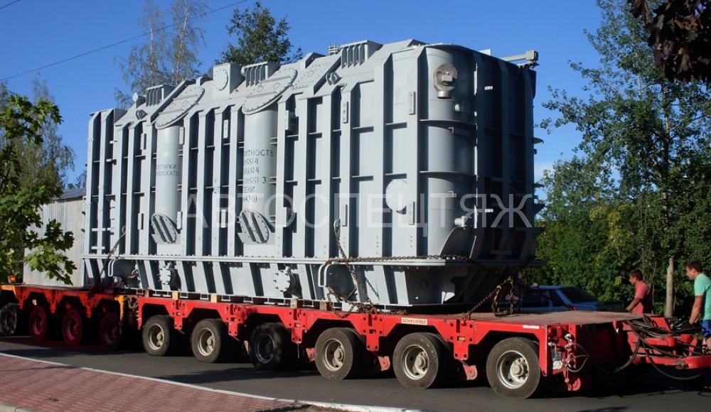 Грузовая перевозка трансформатора на трале