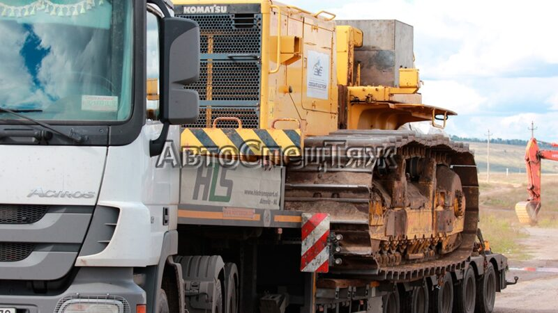 перевозка бульдозера Komatsu D355C 4