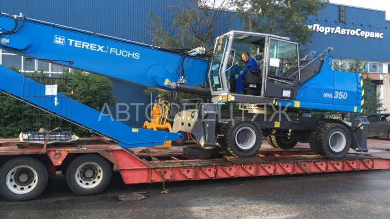 Перевозка крана Terex-Fuchs MHL 360 - 6